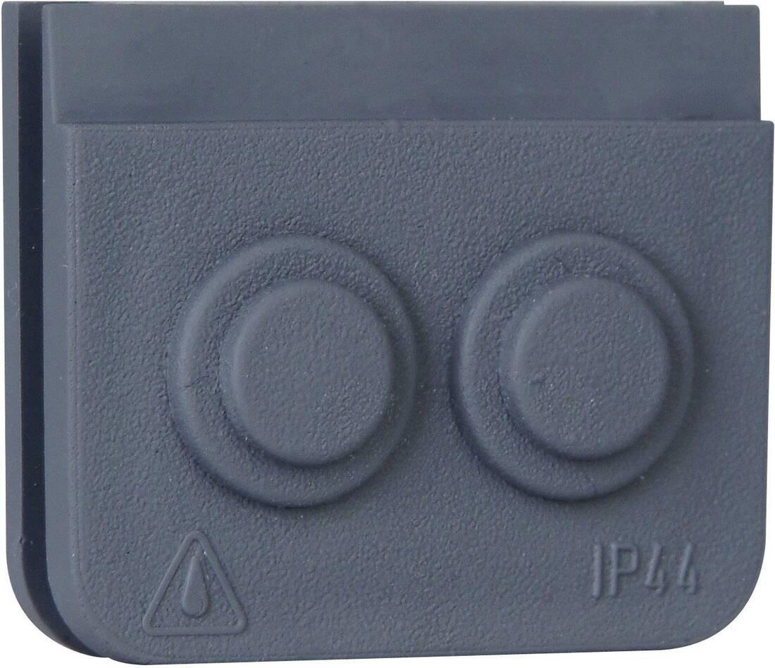 Kopp blue electric kabeldoorvoer 2-delig grijs