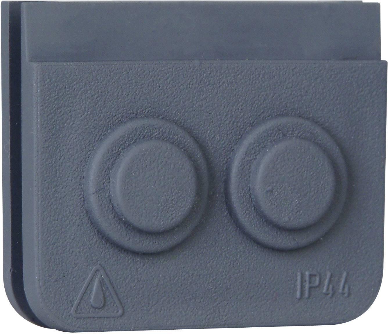 Kopp blue electric kabeldoorvoer 2-delig grijs per 10