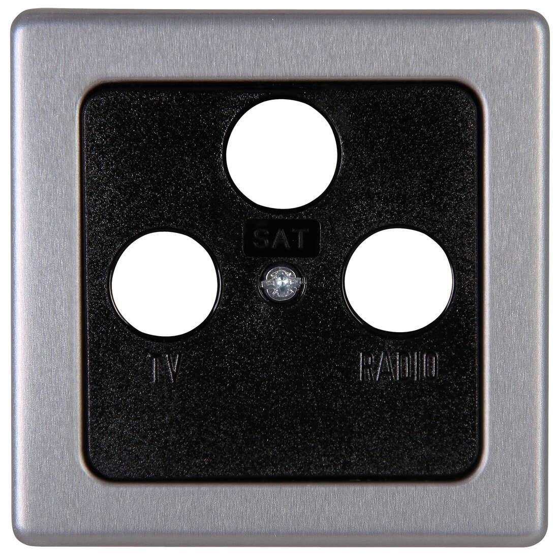 Kopp VISION afdekplaat tv/fm/sat staal