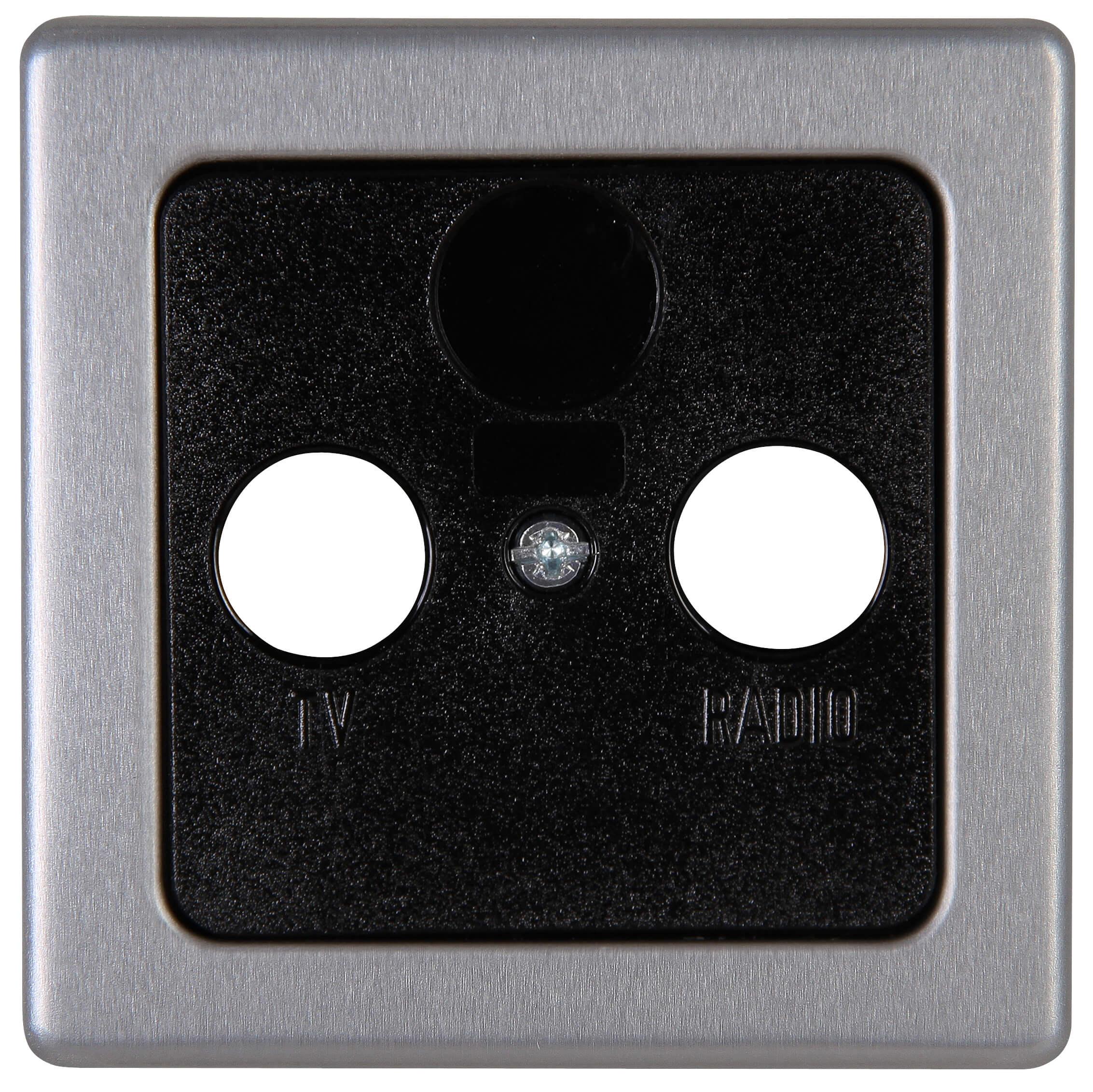 Kopp Vision afdekplaat TV/FM staal