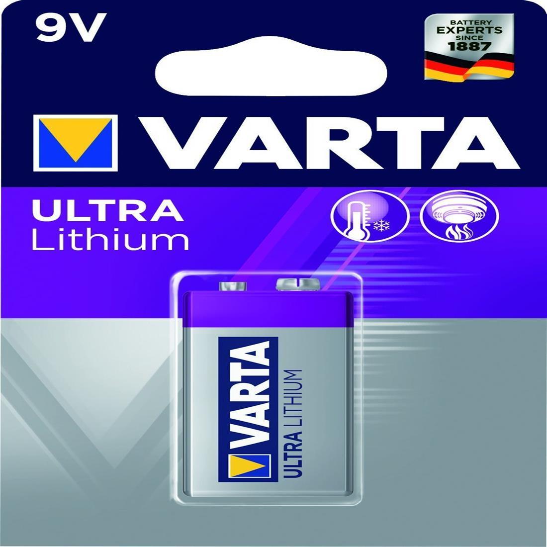Varta Professional Ultra 9V Lithium (rookmelder) 6LR61 blister van 1 stuk (3790376)