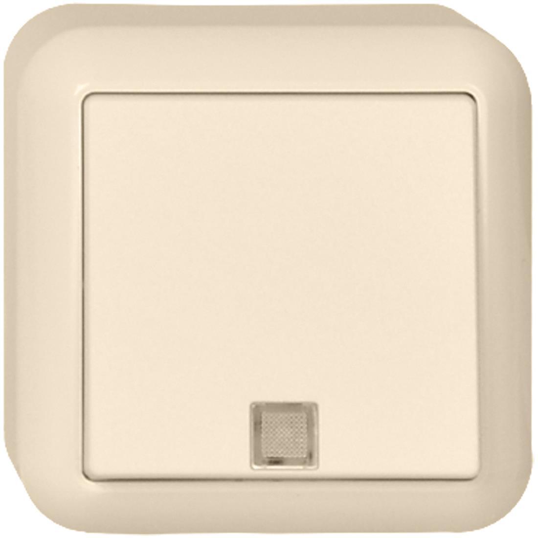Schneider Electric Merten Contura opbouw wisselschakelaar met controlelamp 10A 250V - crème wit (381620)