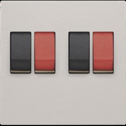 Niko Original - Centraalplaat luidsprekercontactdoos 2-voudig Lichtgrijs 102-69701