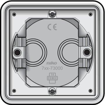 Niko New Hydro - Inbouwdoos 1-voudig Alpinwit 701-73000
