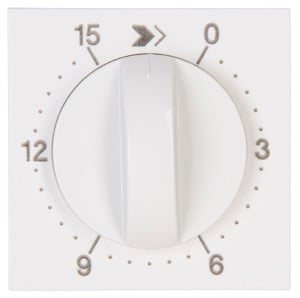 Kopp HK07 centraalplaat mechanische tijdschakelaar 15 min helder wit (313429152)