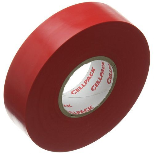 Cellpack isolatietape 128 rood 19mmx25mx0,15mm 1 rol