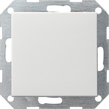 Gira Systeem 55 drukvlakschakelaar wisselschakelaar - zuiver wit mat (012627)