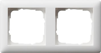 Gira Standaard 55 afdekraam 2-voudig  - zuiver wit mat (021204)