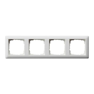 Gira Standaard 55 afdekraam 4-voudig  - zuiver wit mat (021404)