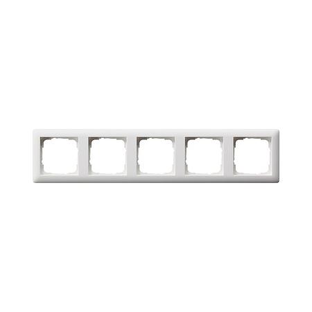 Gira Standaard 55 afdekraam 5-voudig  - zuiver wit mat (021504)