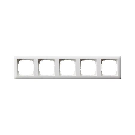 Gira afdekraam 5-voudig Standaard 55 - zuiver wit mat (021504)