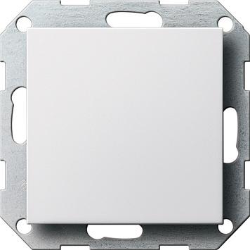 Gira Systeem 55 blindplaat - zuiver wit mat (026827)
