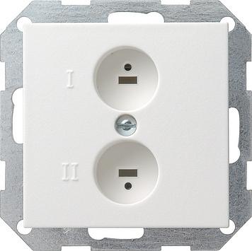Gira Systeem 55 luidsprekercontactdoos - zuiver wit mat (040227)
