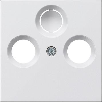 Gira Systeem 55 centraalplaat radio/tv - zuiver wit mat (086927)