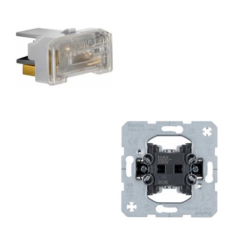 Hager Wisselschakelaar + controlelampje 230V met N-klem IP44 S.1 creme