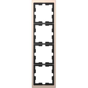 Schneider-Merten D Life afdekraam 4-voudig - champagne metallic (MTN4040-6551)