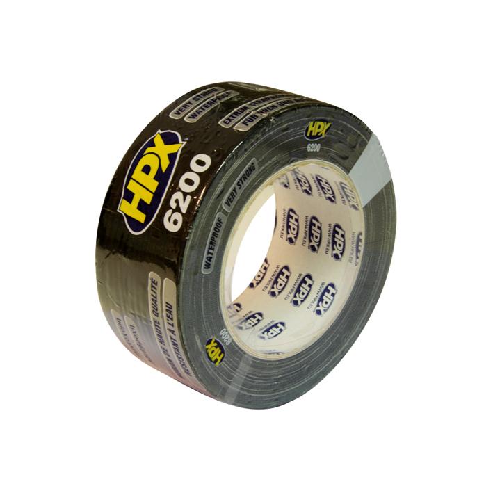 HPX duct tape 50mm x 25 meter zwart (CB5025)