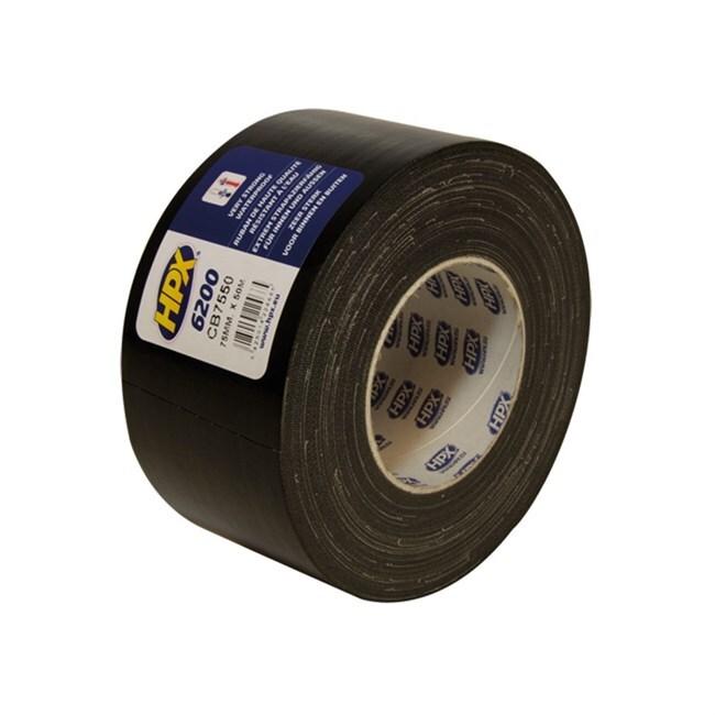 HPX duct tape Pantser 75mmx50M Zwart (CB7550)