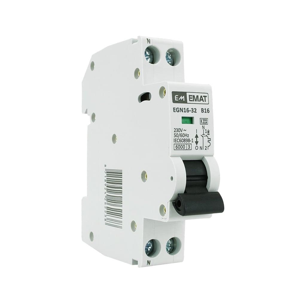 EMAT installatieautomaat 1-polig+nul 6A B-kar