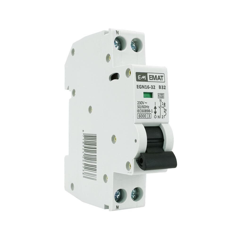 EMAT installatieautomaat 1-polig+nul 32A B-Kar