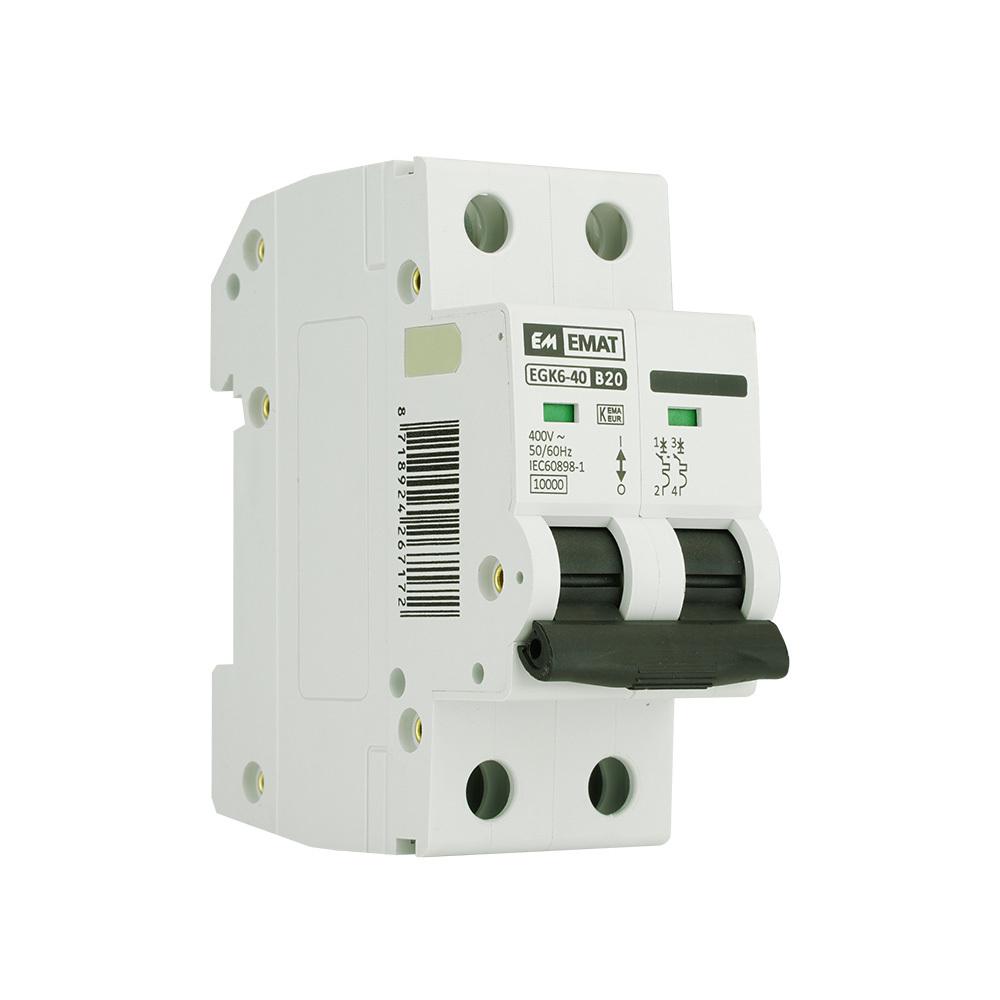 EMAT installatieautomaat 2-polig 20A B-kar