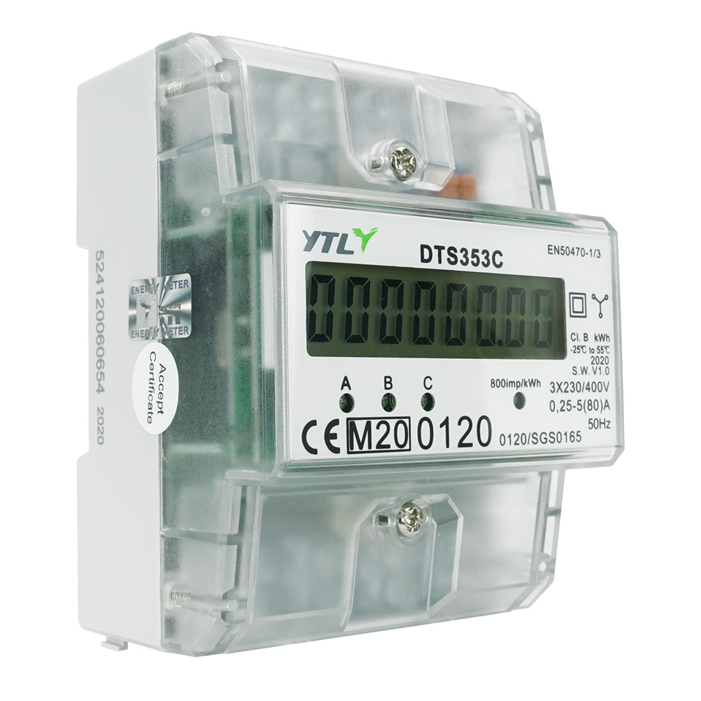 EMAT kWh meter 80A 3-fase digitaal MID (EMATKWH3F80AMID)