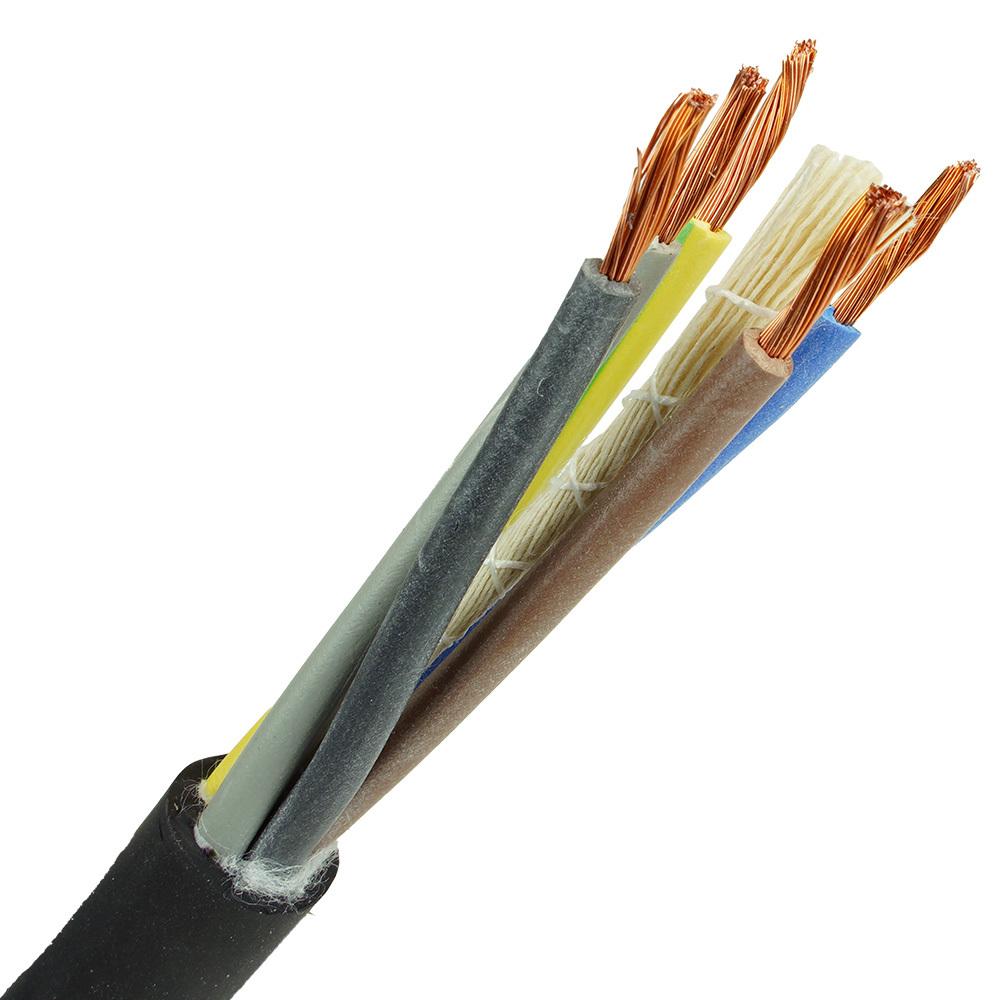 Neopreen kabel H07RNF 5x2,5mm per 1 meter