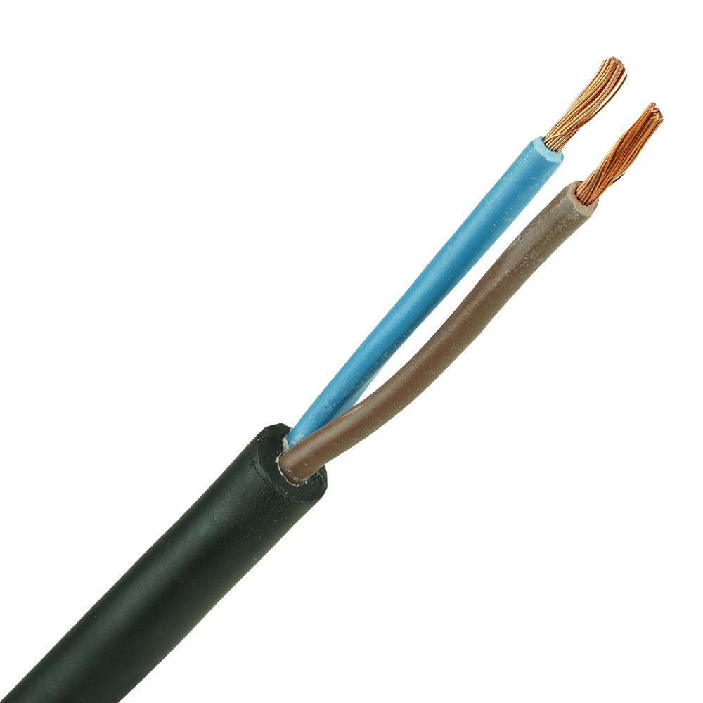 Neopreen kabel H07RNF 2x1,5mm per 1 meter