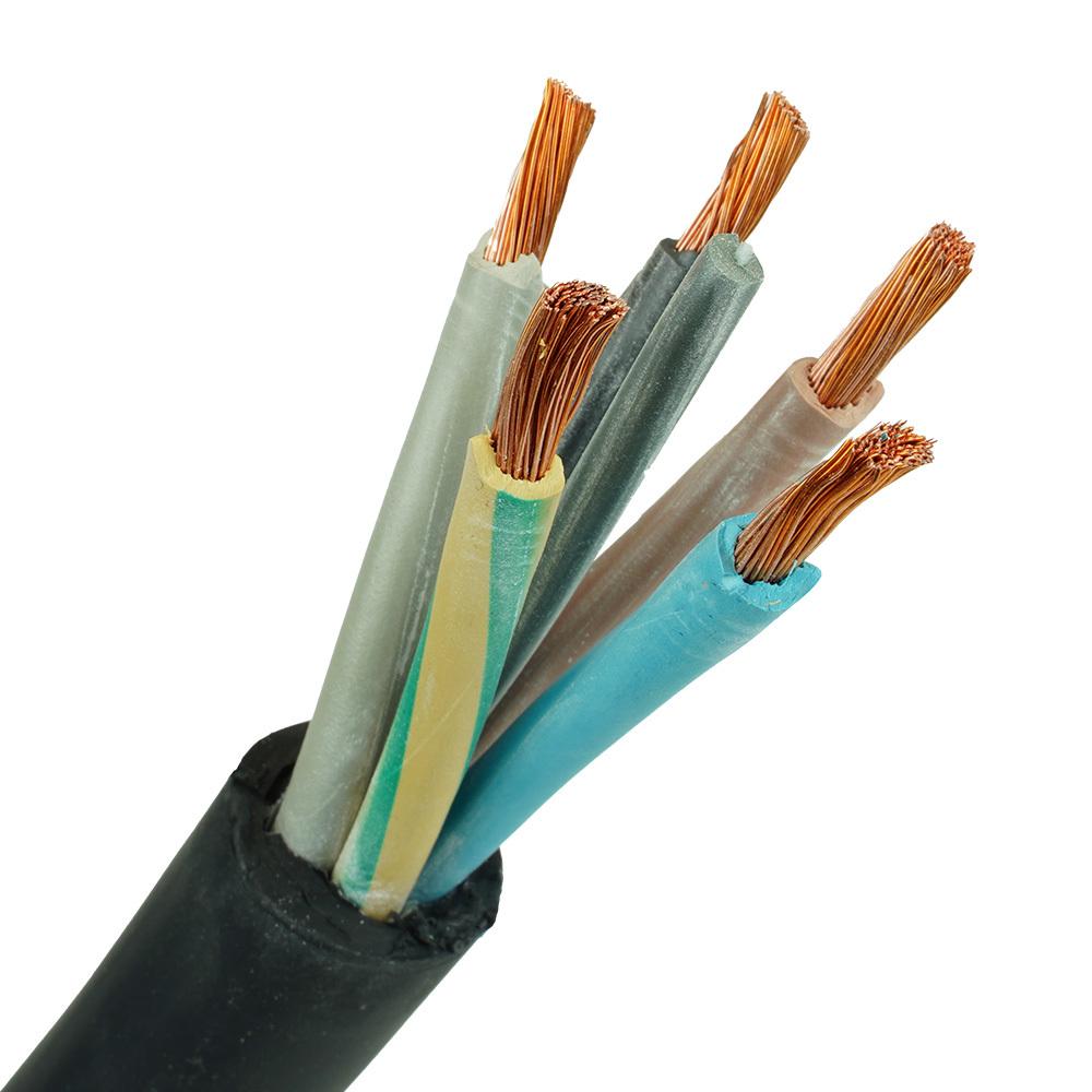 Neopreen kabel H07RNF 5x10mm per 1 meter