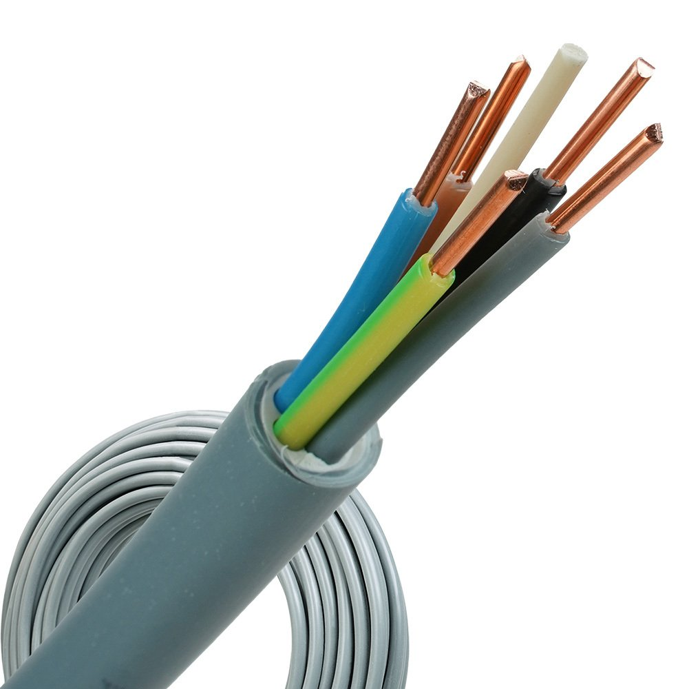YMvK kabel 5x1,5 per rol 100 meter