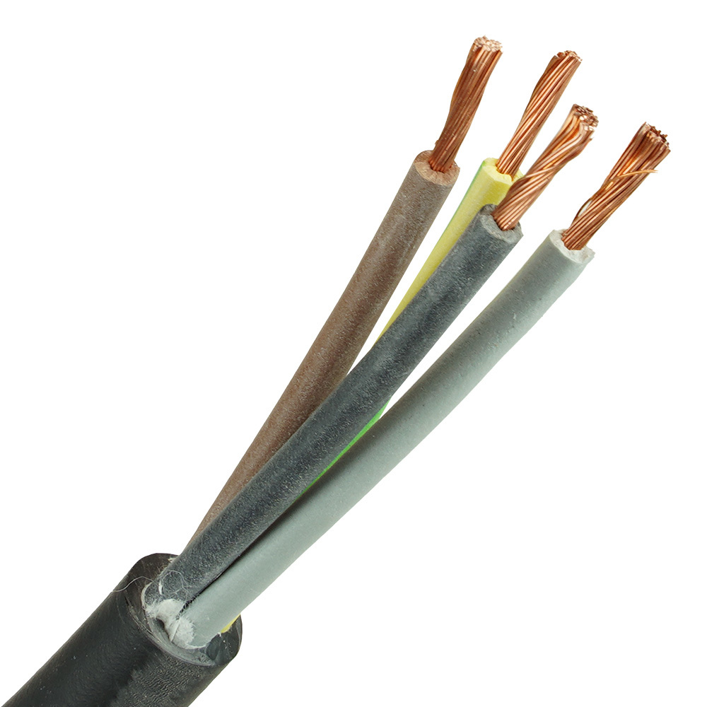 Neopreen kabel H07RNF 4x6 per meter