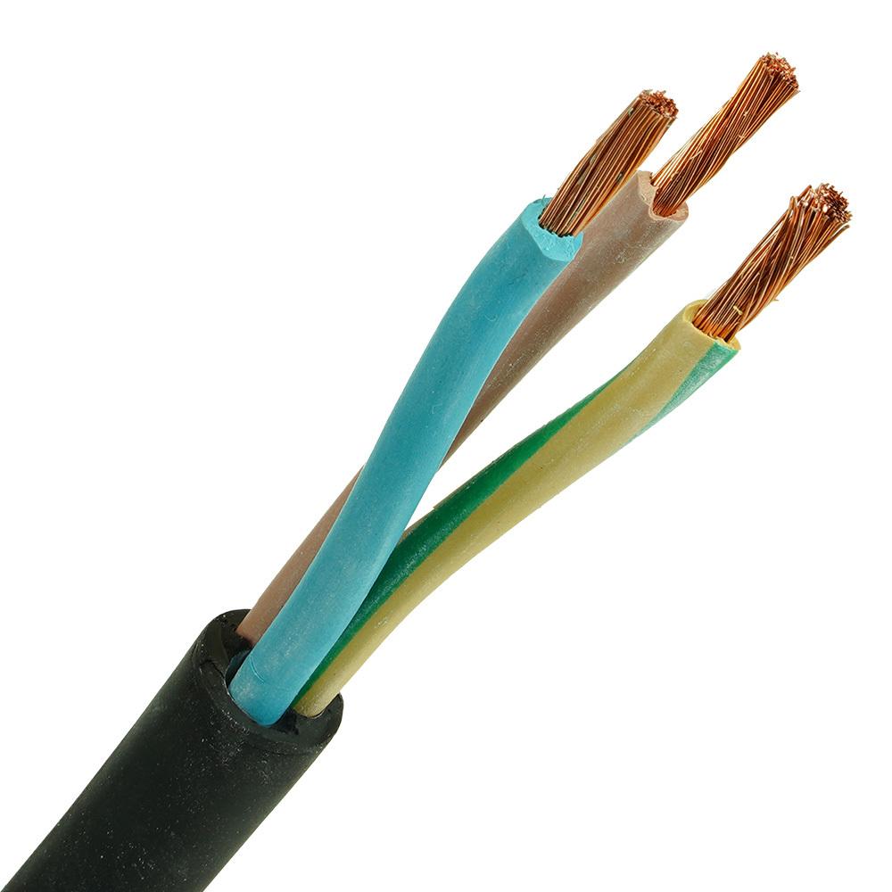 Neopreen kabel H07RNF 3x10 per meter