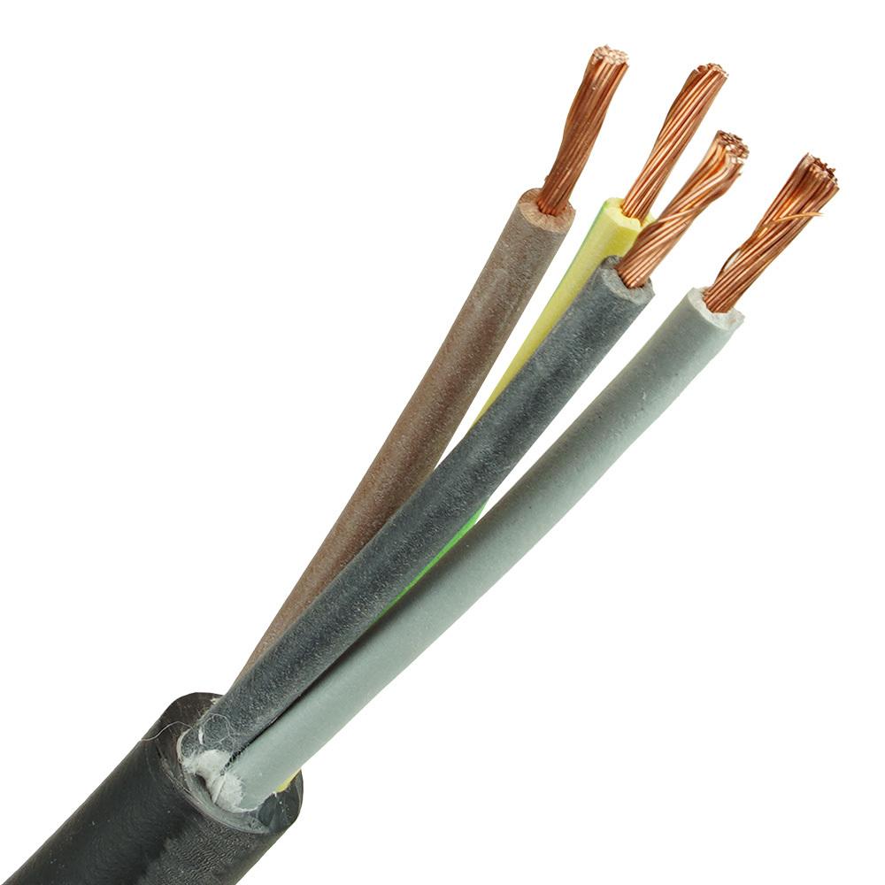Neopreen kabel H07RNF 4x10 per meter