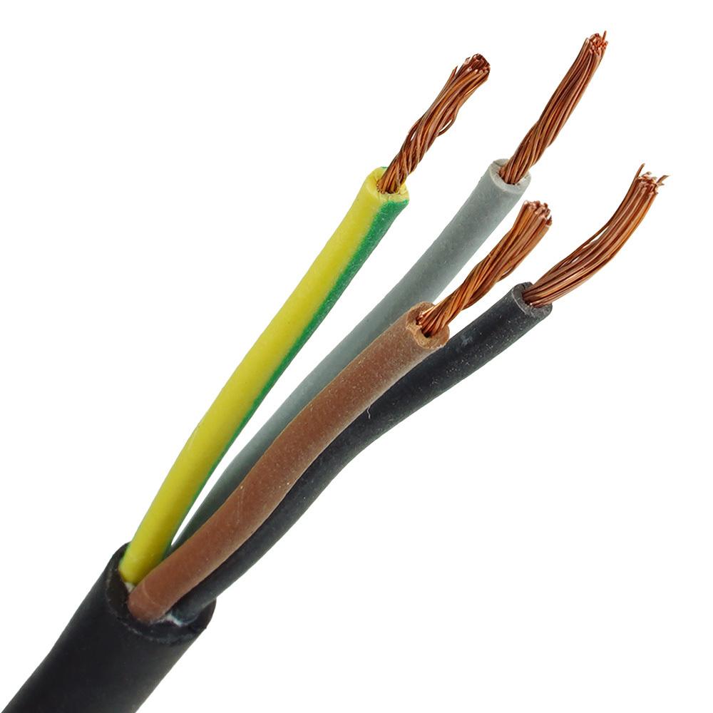 Neopreen kabel H07RNF 4x1 per meter