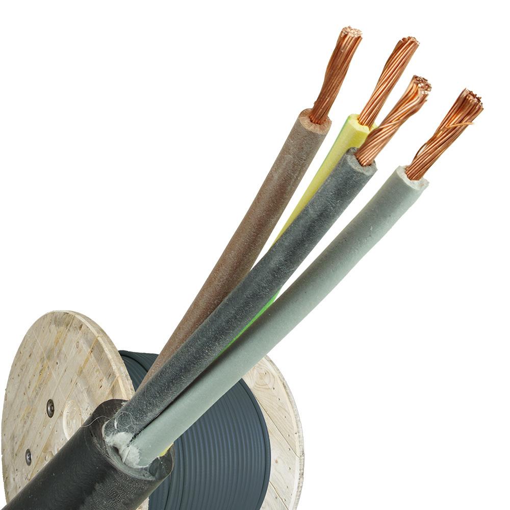 Neopreen kabel H07RNF 4x6 haspel 500 meter