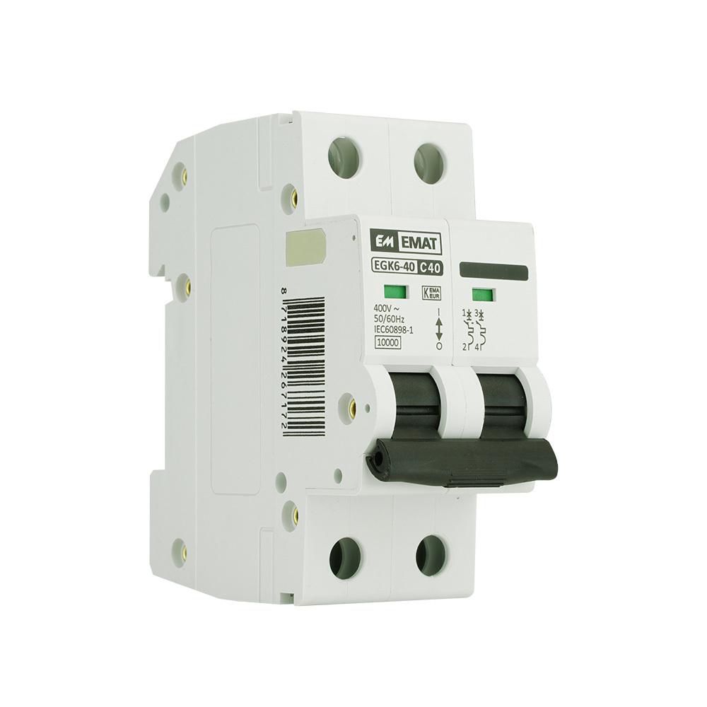 EMAT installatieautomaat 2-polig 40A C-kar