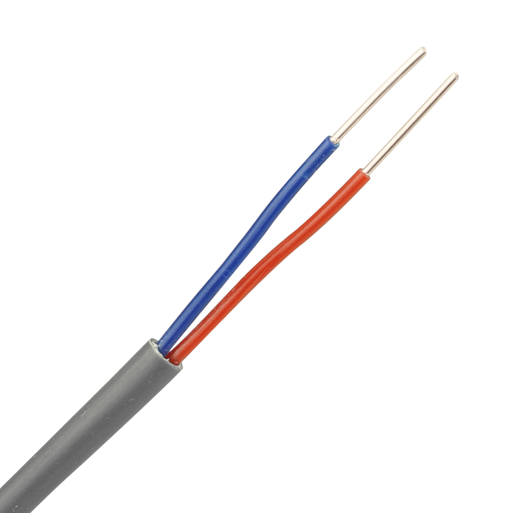 Thermostaatkabel 2x0,8 mm grijs - rol 100 meter
