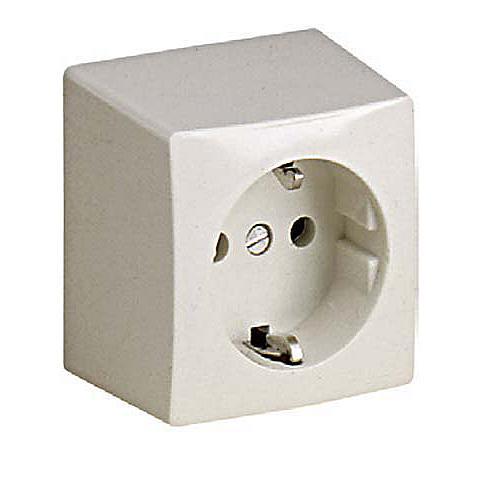 ABL wandcontactdoos randgeaard 1-voudig elektrowit