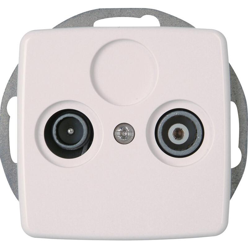 Kopp RIVO stopcontact inbouw coax - wit