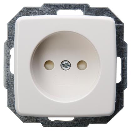 Kopp RIVO stopcontact inbouw zonder randaarde met kinderbeveiliging 1-voudig wit