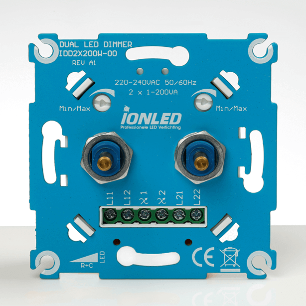 iONLED duo-dimmer LED universeel 2 x 1-200W