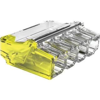 Conex lasklem 4-voudig 0,5-2,5mm2 geel per 12 stuks (C12 CH 2004M)