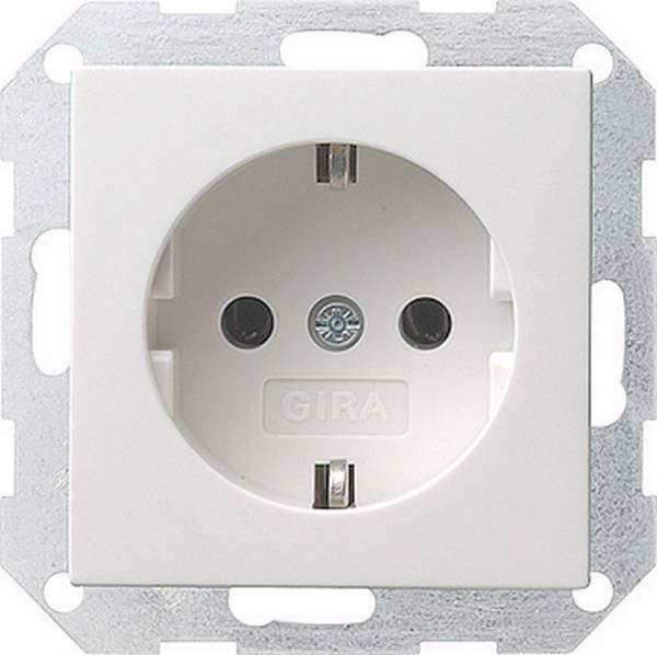 Gira Gira stopcontact met randaarde 1-voudig 1-voudig - zuiver wit glanzend (018803)