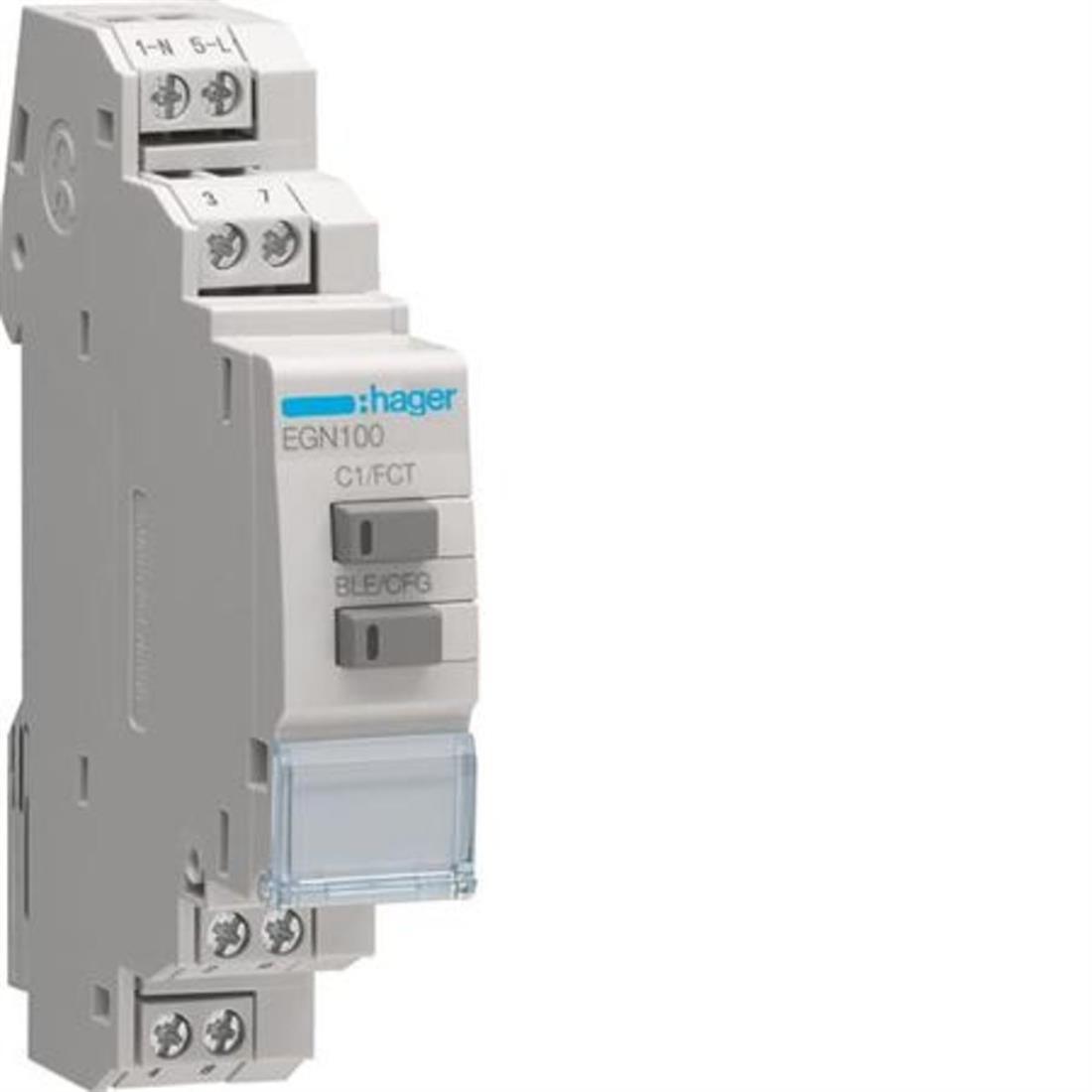 Hager digitale schakelklok multifunctioneel met bluetooth (EGN100)