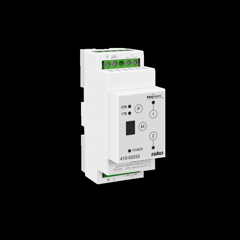 Niko draadloze 2-kanaalsontvanger DIN voor motorsturing (410-00352)