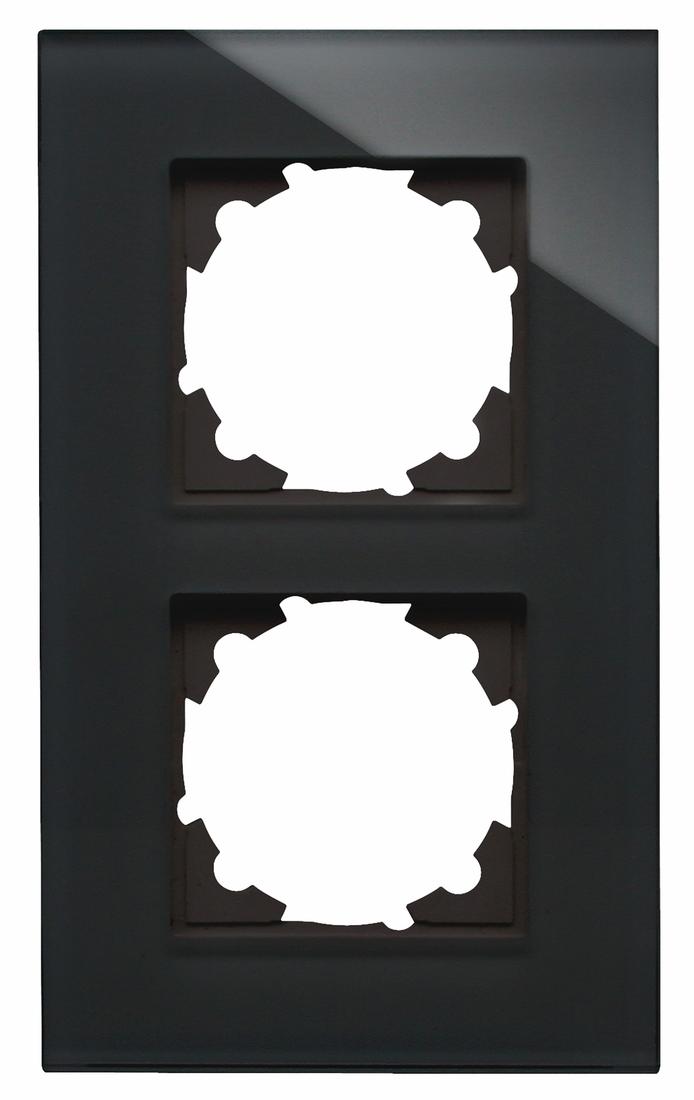 Kopp HK07 afdekraam glas 2-voudig - zwart