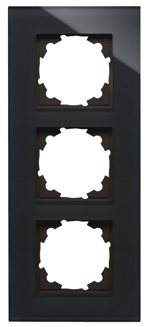 Kopp HK07 afdekraam glas 3-voudig - zwart