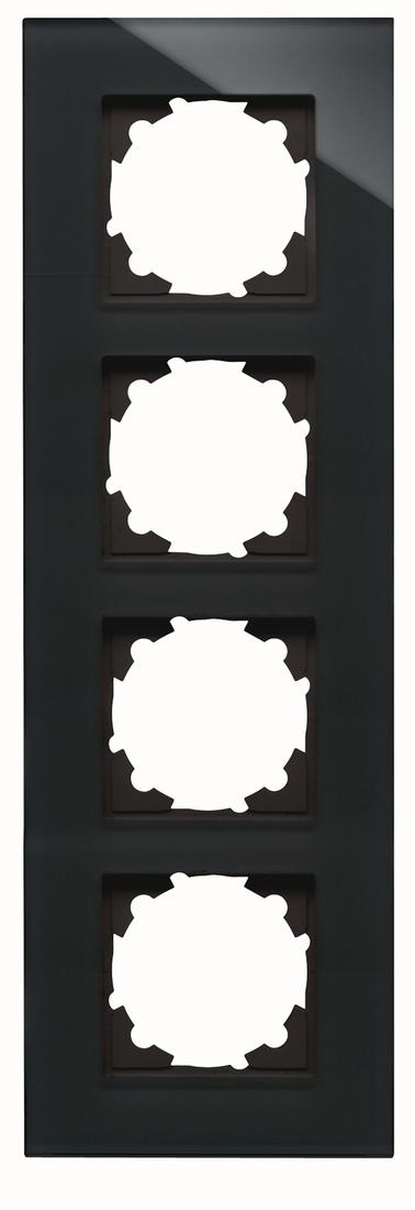 Kopp HK07 afdekraam glas 4-voudig - zwart