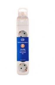 AL - Producten tafelcontactdoos monteerbaar 4V + randaarde wit zonder snoer