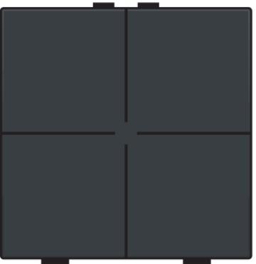 Niko bedieningstoets 4-voudig - Home Control antraciet (122-51004)
